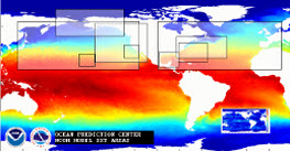 Ocean surface temperature
