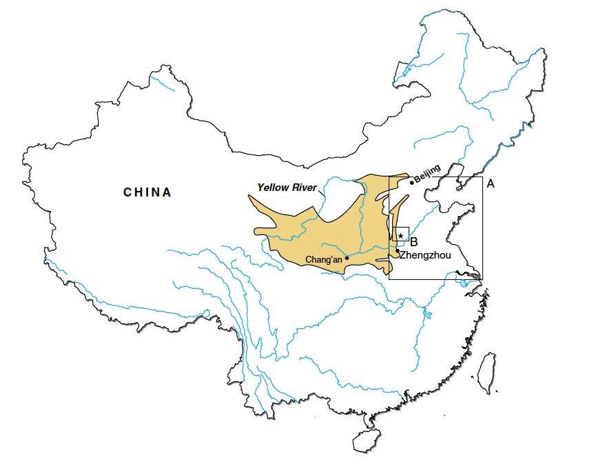 Карта речной долины Хуанхэ