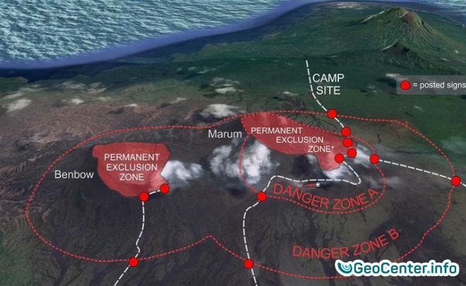 Вулкан Амбрим  «проснулся» на Вануату, август 2017 года