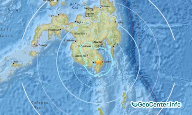 Мощное землетрясение магнитудой 5,8 на юге Филиппин, август  2017