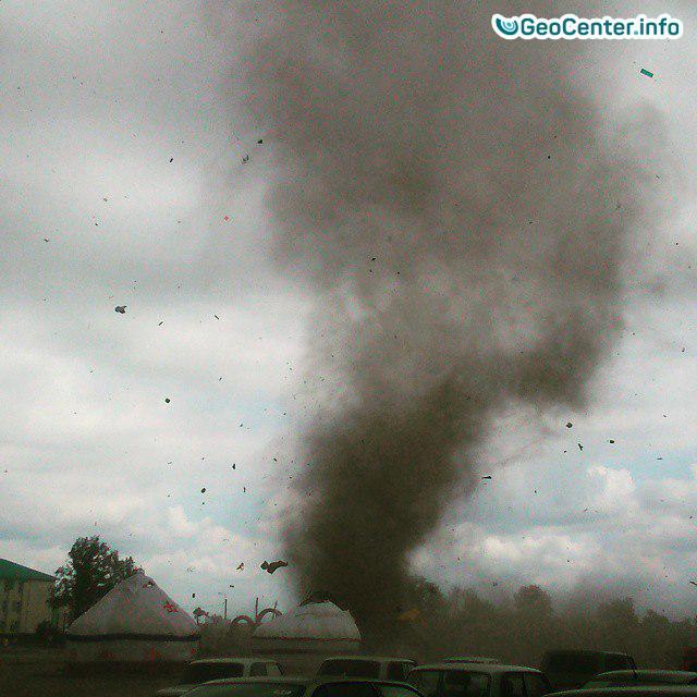 Ураган и смерч в  Костанае , Казахстан