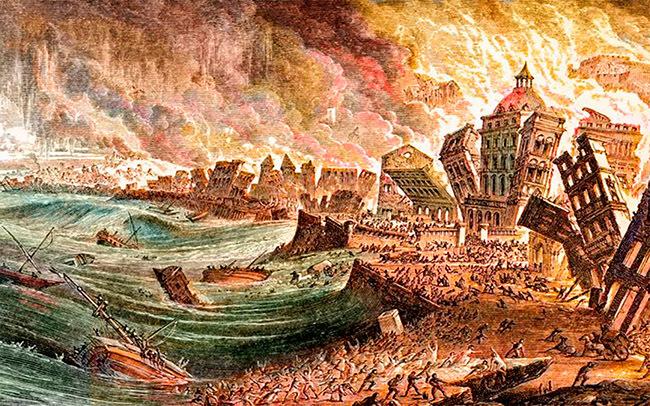 Великая Лиссабонская трагедия, 1755 г. Португалия