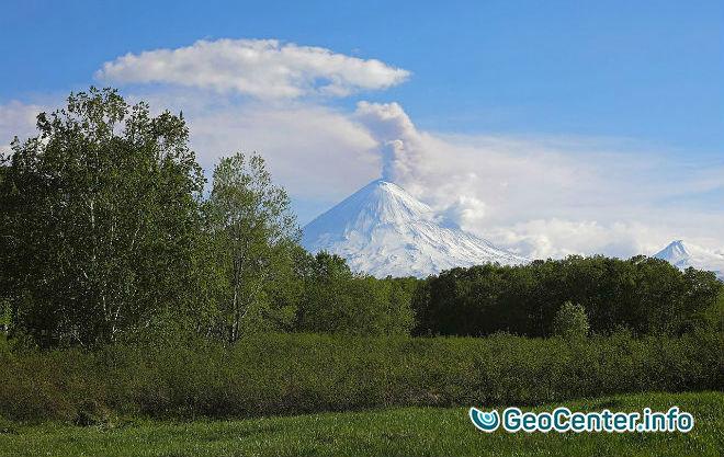 Эстафета извержений на Камчатке, июнь 2017