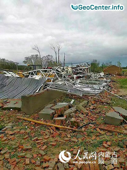 Торнадо во Внутренней Монголии на севере Китая, 11 августа 2017 года