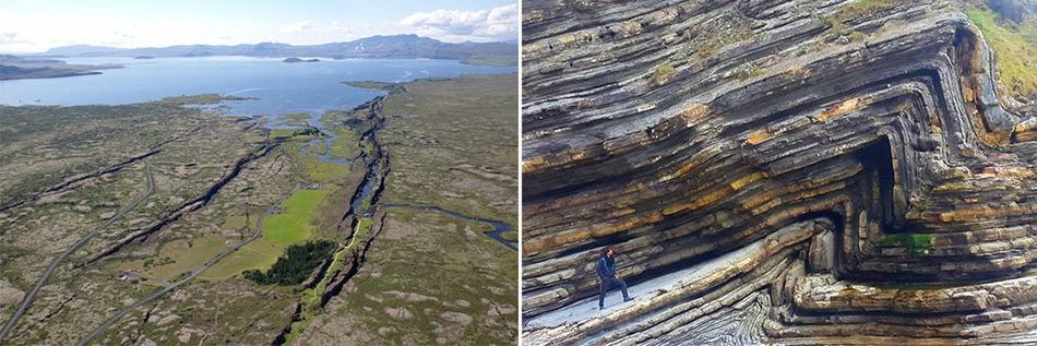 Расхождение и схождение тектонических плит