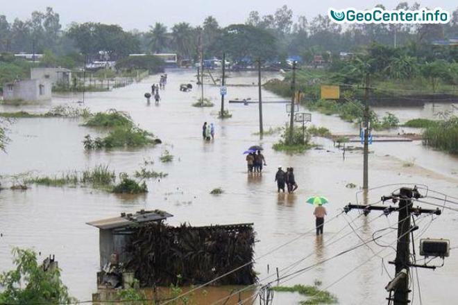 Наводнение в индийском штате Ассам