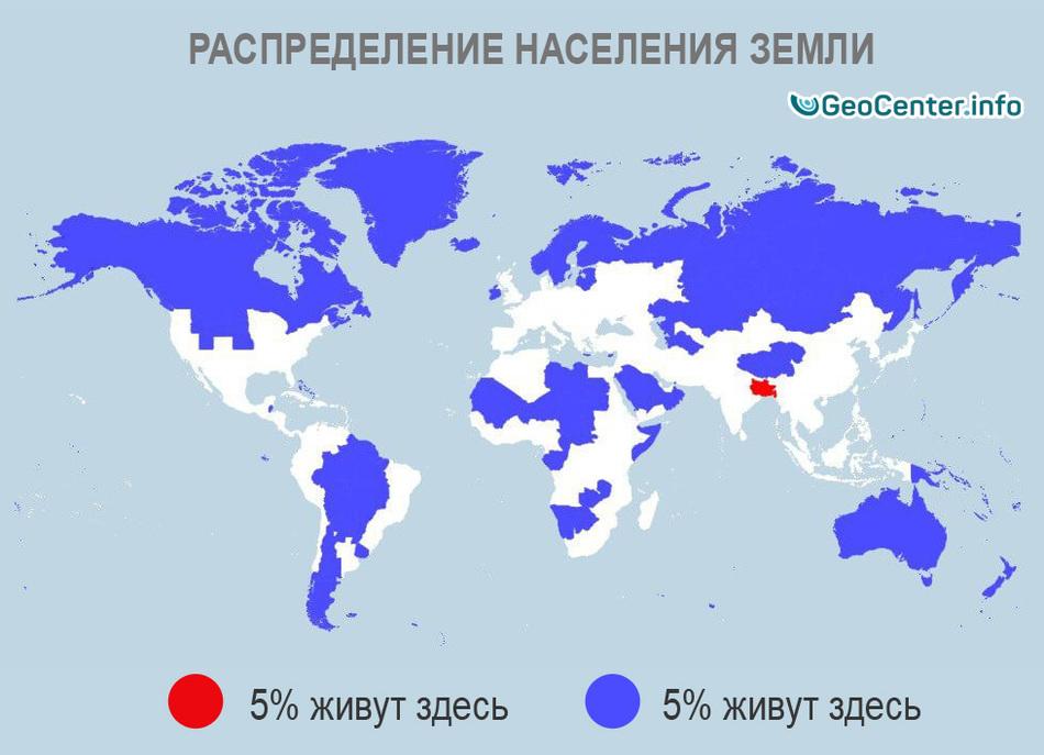 Распределение плотности населения Земли