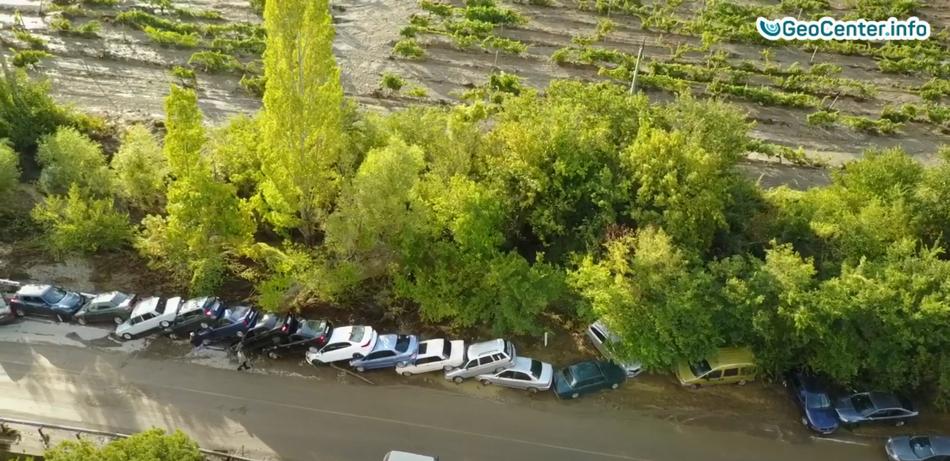 Сход селевого потока  в районе г. Судак (Крым), 18 августа 2017 года