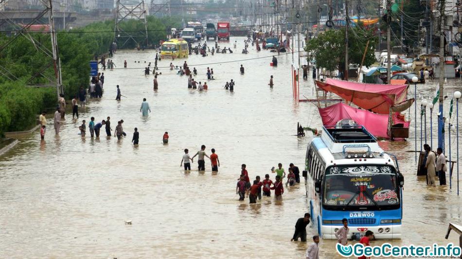 Сильное наводнение в Пакистане, сентябрь 2017