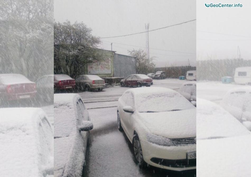 Снегопады в Мурманске, Россия