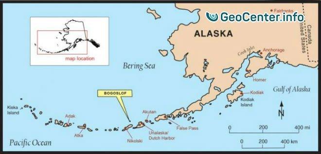 улкан Богослов на Аляске выбросил столб пепла на высоту более 10 км, 28 мая 2017