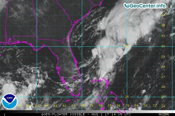На Флориду обрушился тропический шторм «Эмили», июль 2017 года.