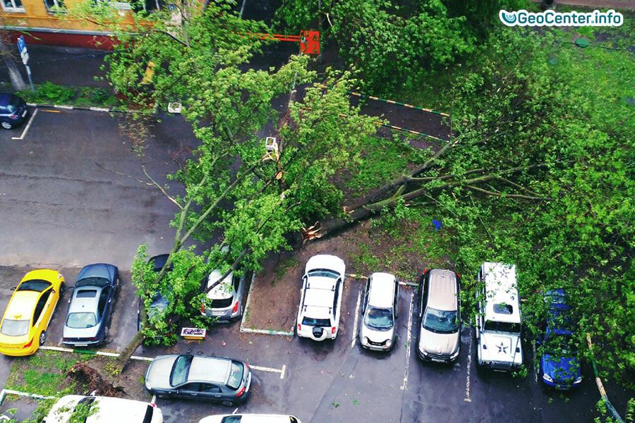 Последствия урагана в Москве и Подмосковье  29 мая 2017 года