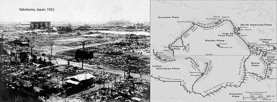 Разрушение города Йокогама, Япония, 1 сентября 1923 г