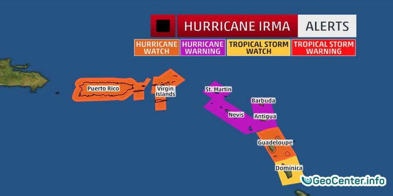 """Ураган """"Ирма"""" усилился до пятой категории"""