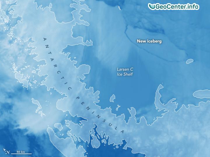 Ученые об отколовшемся  от Антарктиды айсберге, июль 2017 года