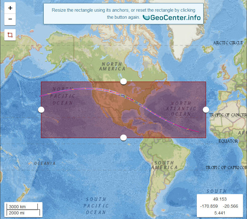 Карта для анализа землетрясений