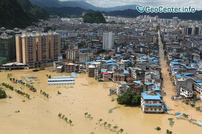 Сильные наводнения на северо-востоке Китая, июль 2017