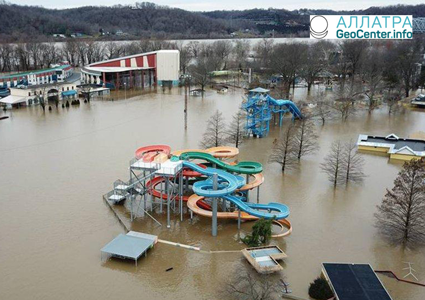 Наводнение на территории Среднего Запада США, февраль 2018