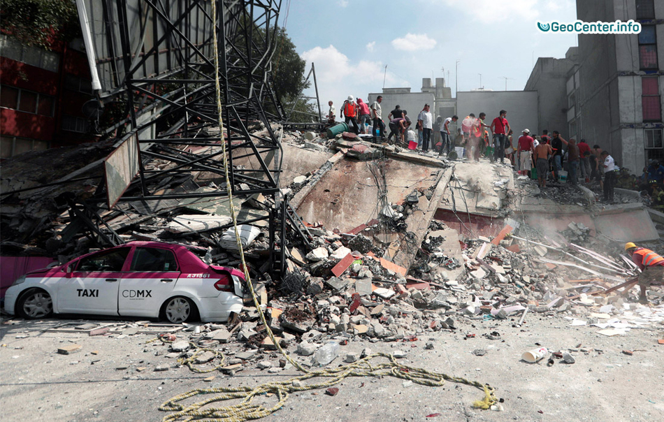 The effects of the earthquake in Mexico, September 2017