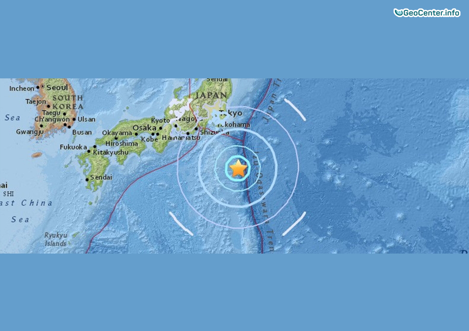 Землетрясение в Японском регионе, Тихий океан, 16 ноября 2017 года