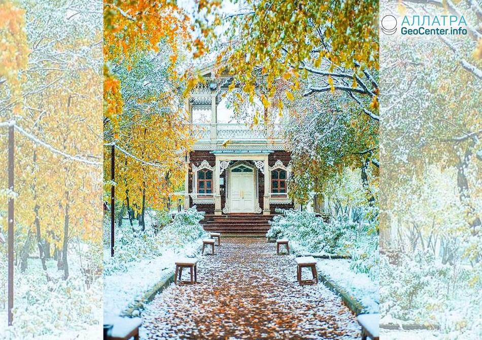 Снегопад в Иркутске (Россия), октябрь 2018 г.