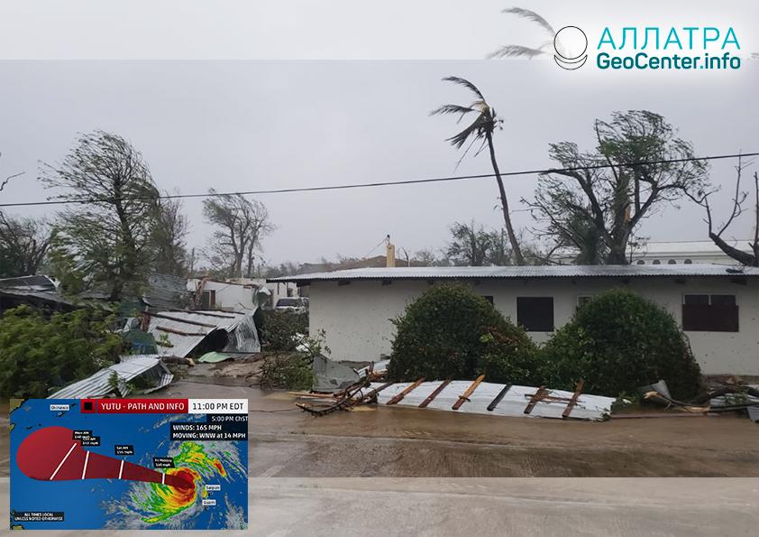 """Супертайфун """"Юту"""" на Марианских островах. Первые последствия"""