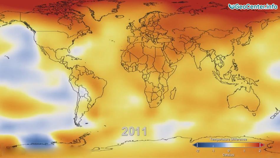 Температурные изменения в мире за 1884-2011 годы