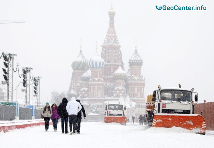 Сильный снегопад в Москве. Рекорды погоды