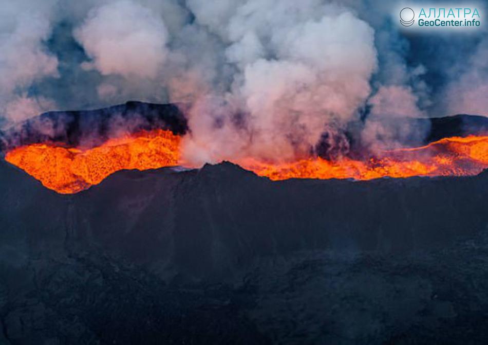 8 землетрясений в районе исландского вулкана Бардарбунга, апрель 2018