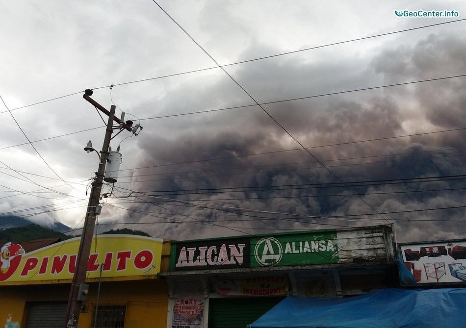 Новости о вулкане Фуэго, Гватемала