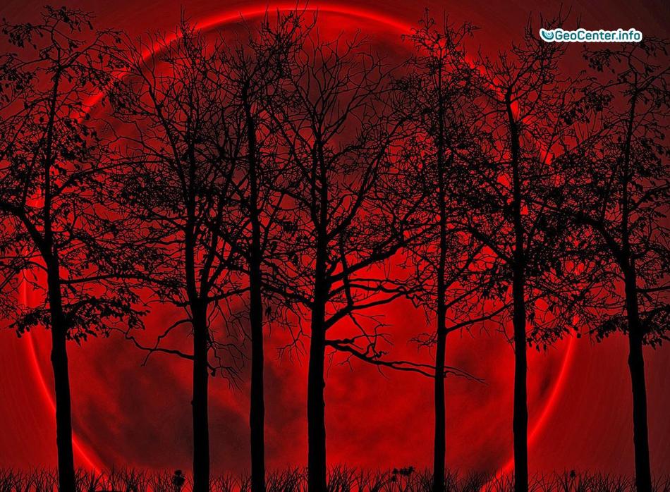 Над США взошла красная Луна, 4 сентября 2017 года