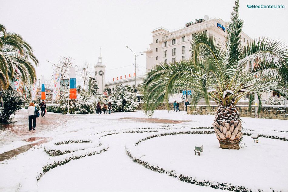 В городе Сочи аномальные морозы