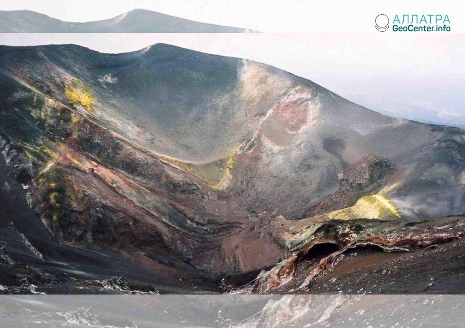 Вулкан Этна сползает в Средиземное море, октябрь 2018 года