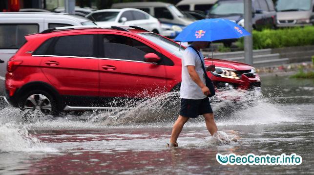 Сильные ливни в Китае вызвали наводнение, август 2017 года