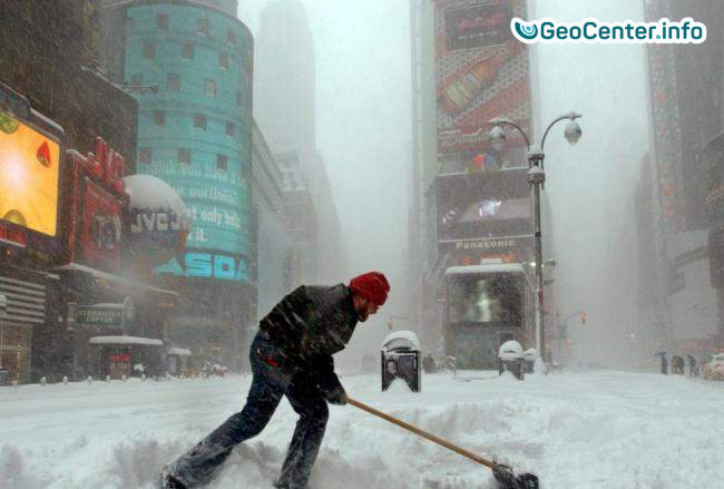 США. Зимний шторм. февраль 2018 г.