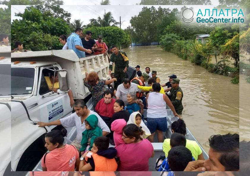 Наводнение в Мексиканских штатах Веракрус и Оахака, октябрь 2018 г.