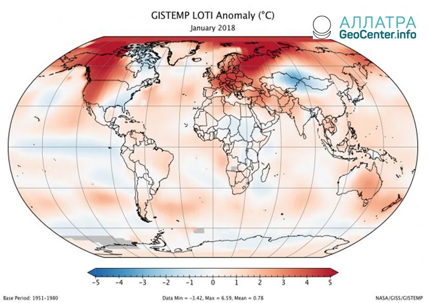 Январь 2018 года стал пятым по теплу за историю метеонаблюдений