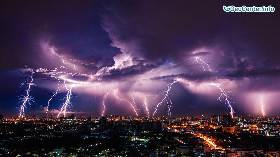 Один миллион разрядов молний в Квинсленде