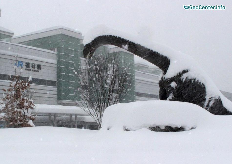 Рекордные снегопады на японском острове Хонсю, февраль 2018 г.