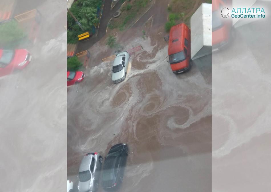 Ливневый дождь в Туле, 18 мая 2018 года