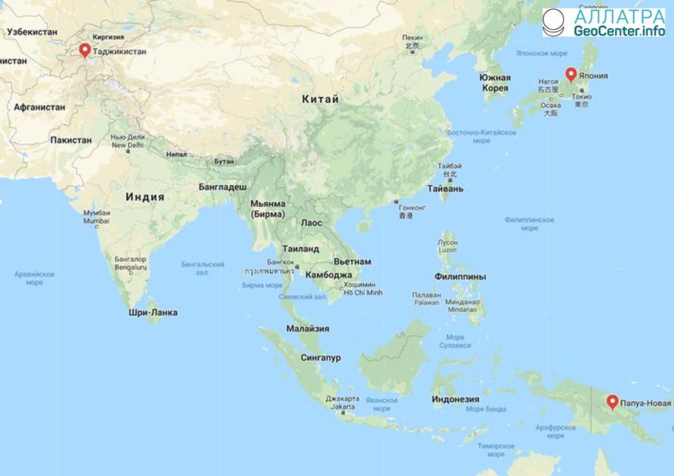 Волна землетрясений в ночь на 30 марта 2018 г.