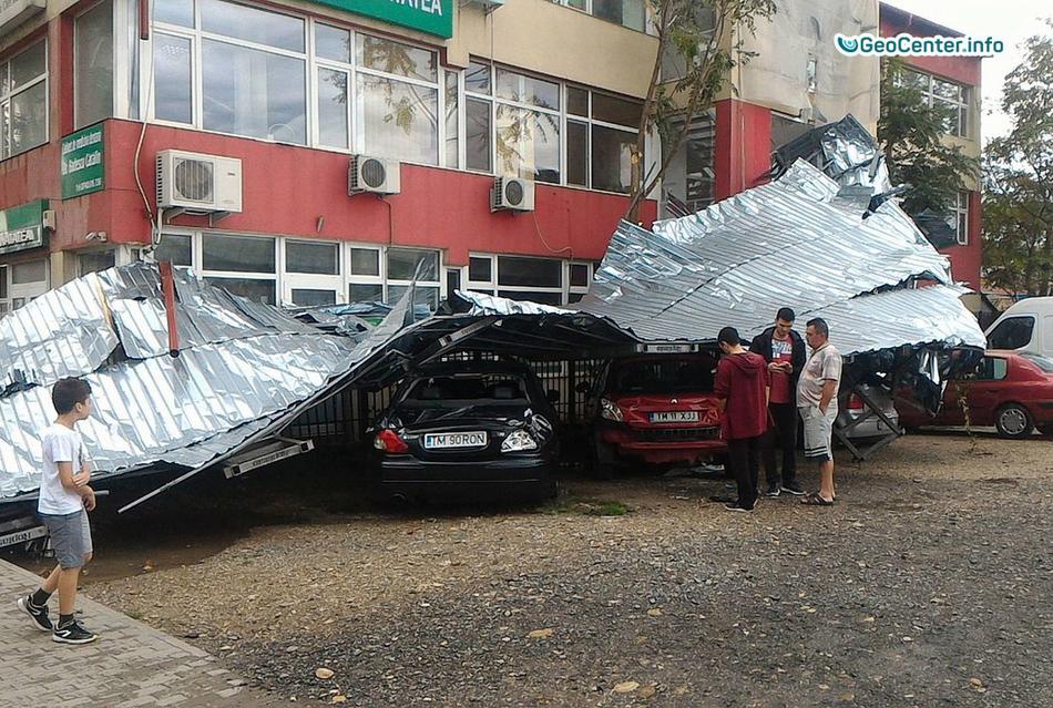 Последствия шквалистого ветра в Румынии, 17 сентября 2017 года