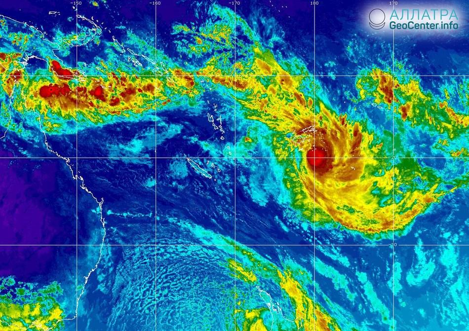 Тропический циклон «Кени» вызвал наводнения на островах Фиджи, 10 апреля 2018 года