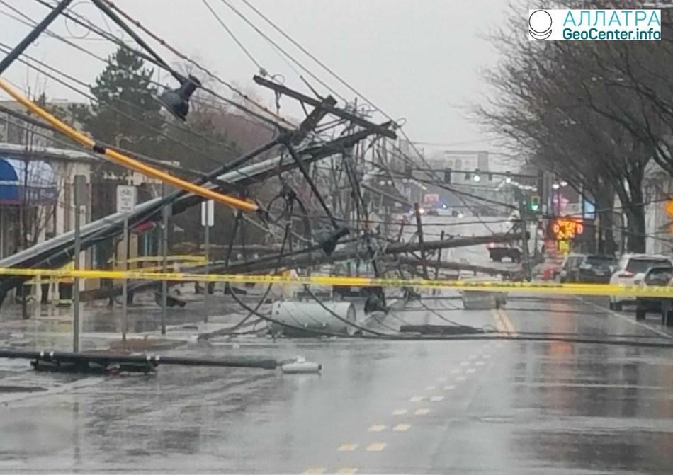 Зимний шторм Райли на Восточном побережье США, февраль 2018 года
