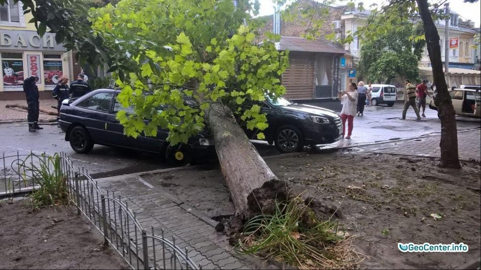 Шторм в Херсоне, август 2017 года