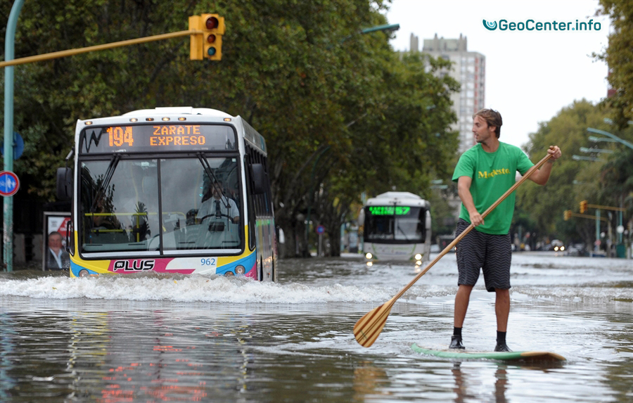 Аргентина. Мощное наводнение январь 2018