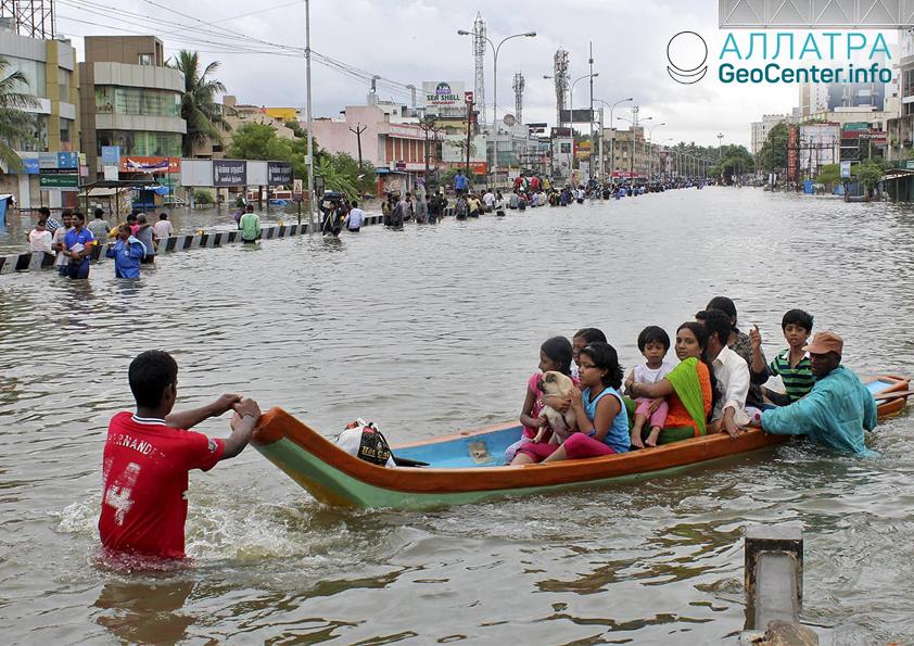 Наводнения в Индии, сентябрь 2018