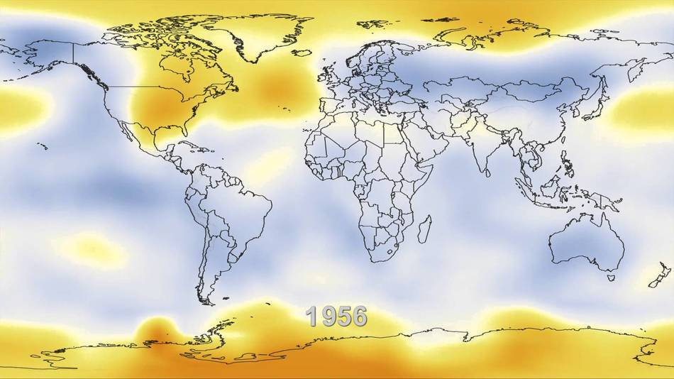 Temperature Changes in the world from 1884 to 2012