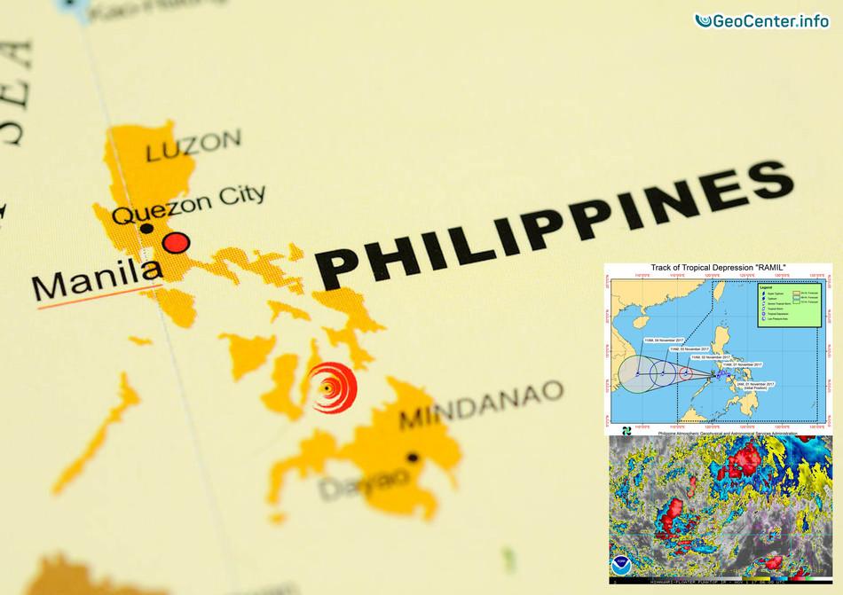 """Тропическая депрессия """"Рамиль"""" сформировалась у Филиппин, Юго-Восточная Азия"""